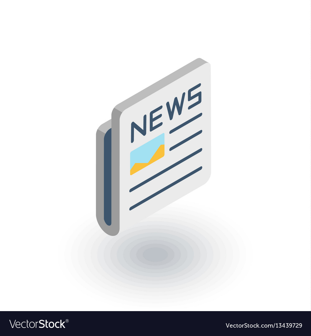 Newspaper daily press news content article vector image