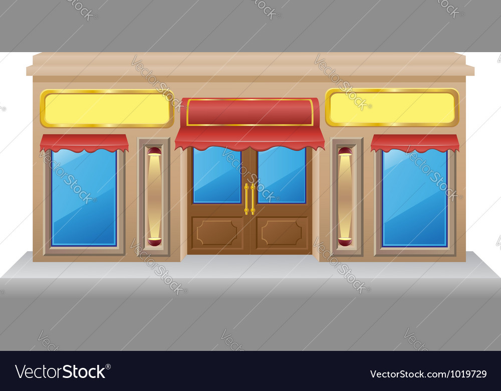 Shop facade 03 vector image