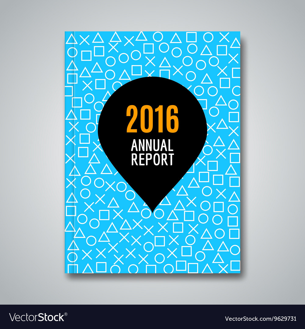 Business annual report with simple icons pattern vector image