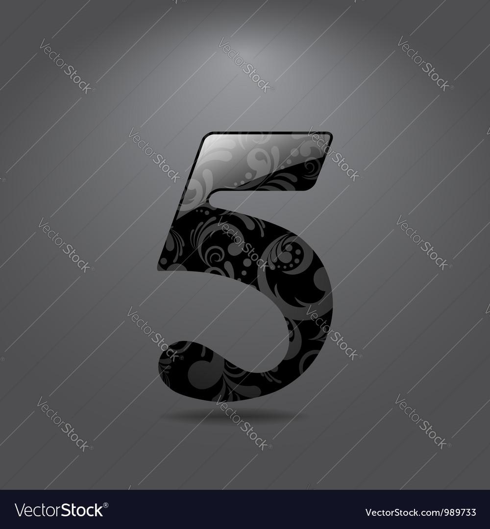 Digit five vector image