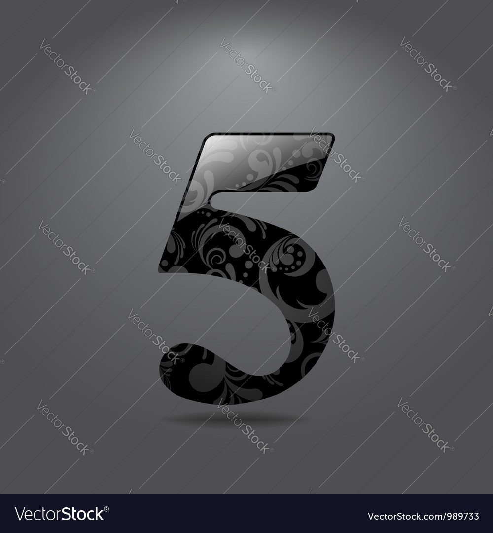 Digit five vector image