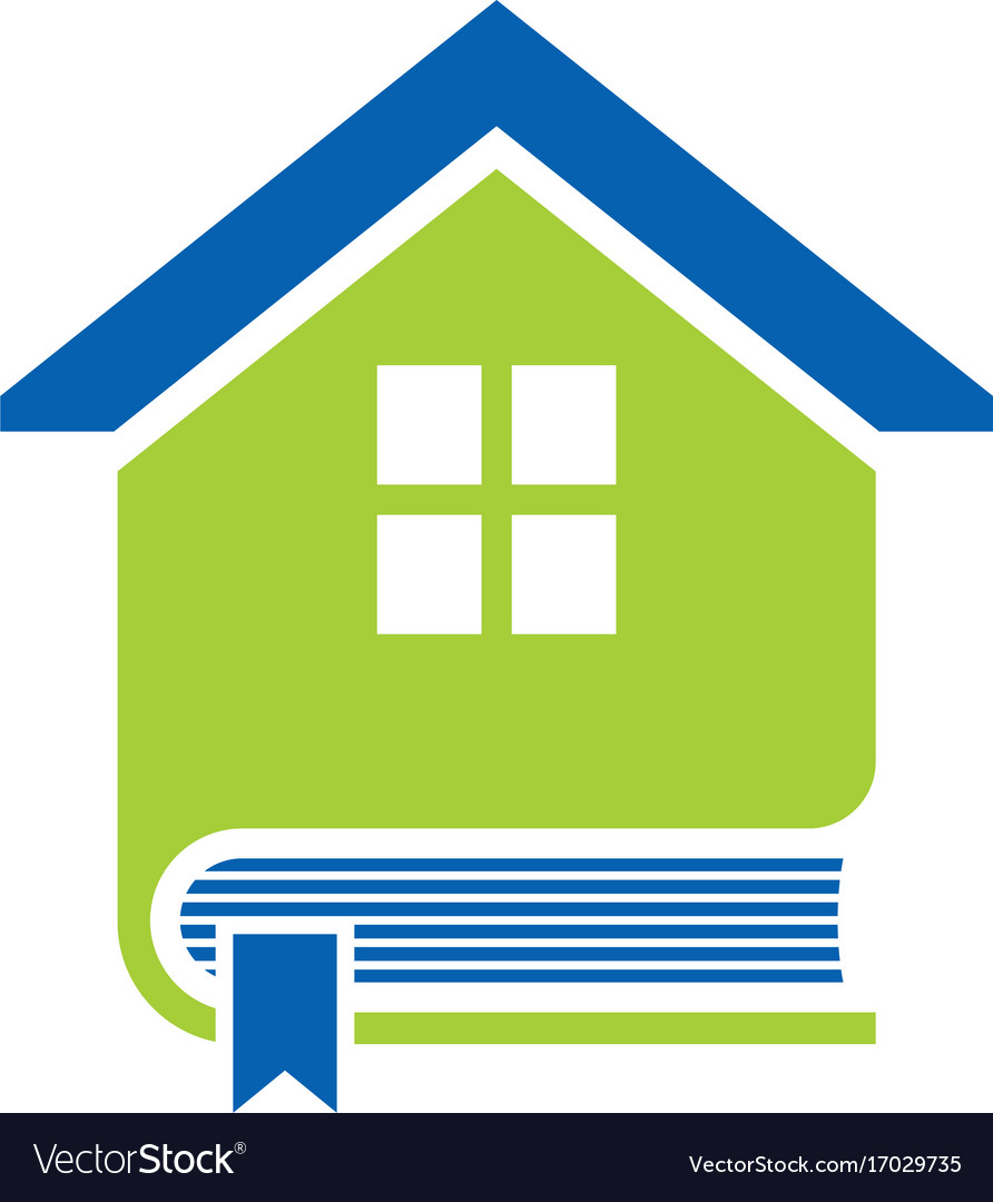 Book house education logo vector image