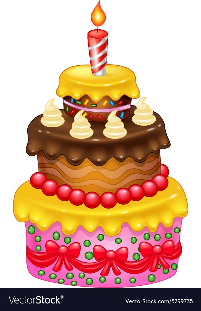 Cartoon Birthday cake vector image