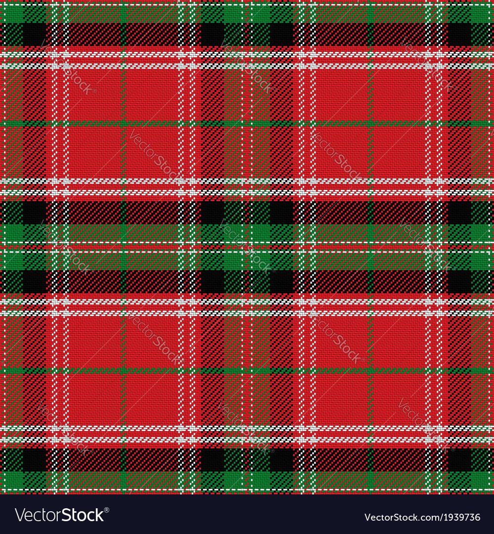 Seamless pattern Scottish Stewart tartan vector image