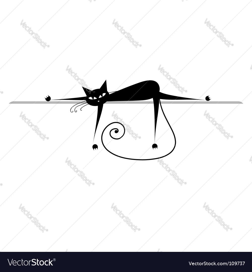 Cat silhouette Royalty Free Vector Image - VectorStock