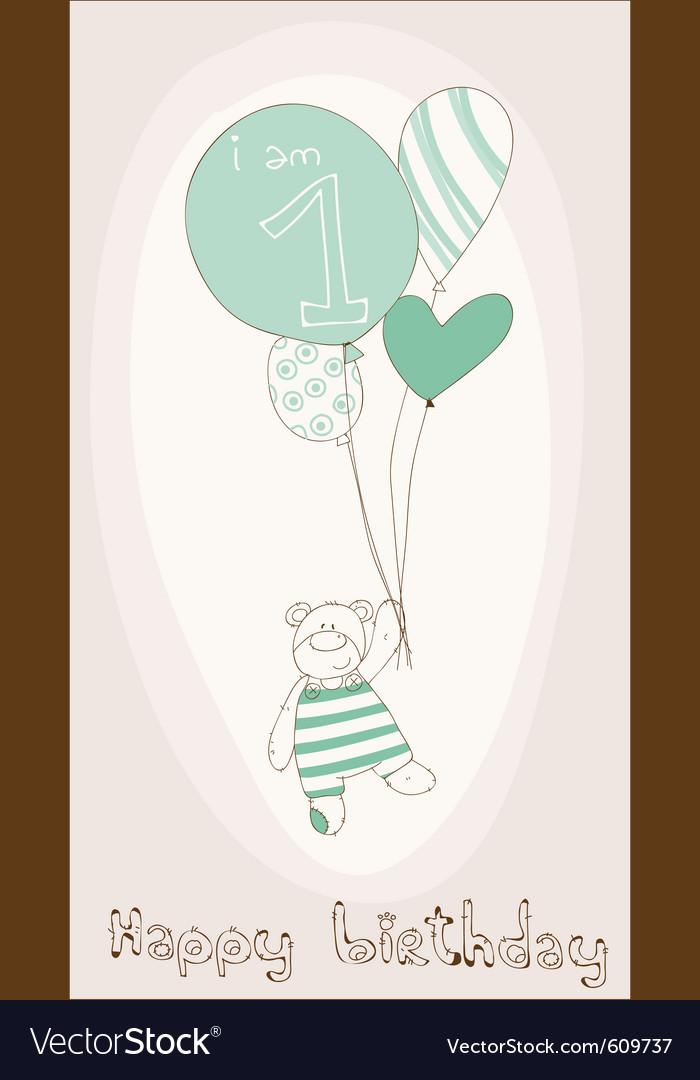 Birthday invitation card vector image