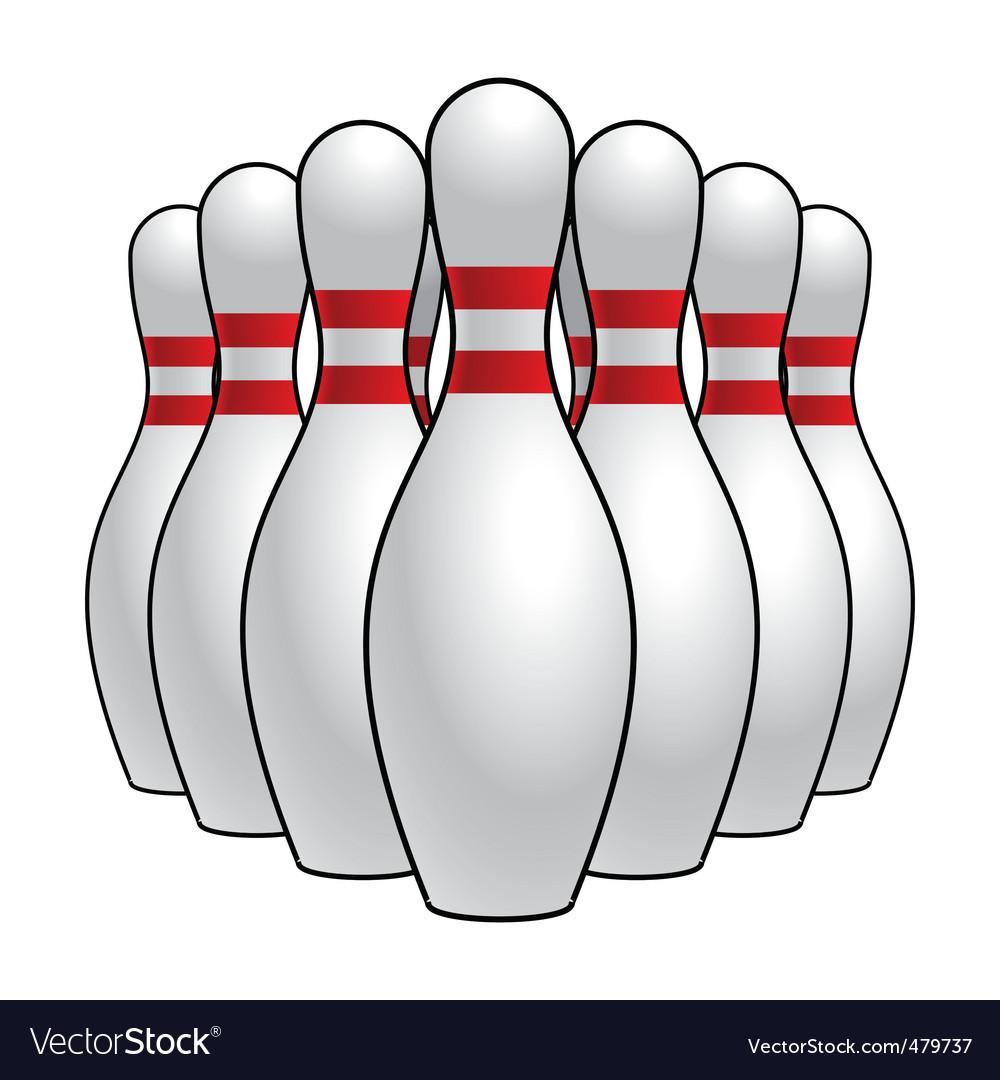 Bowling pins vector image