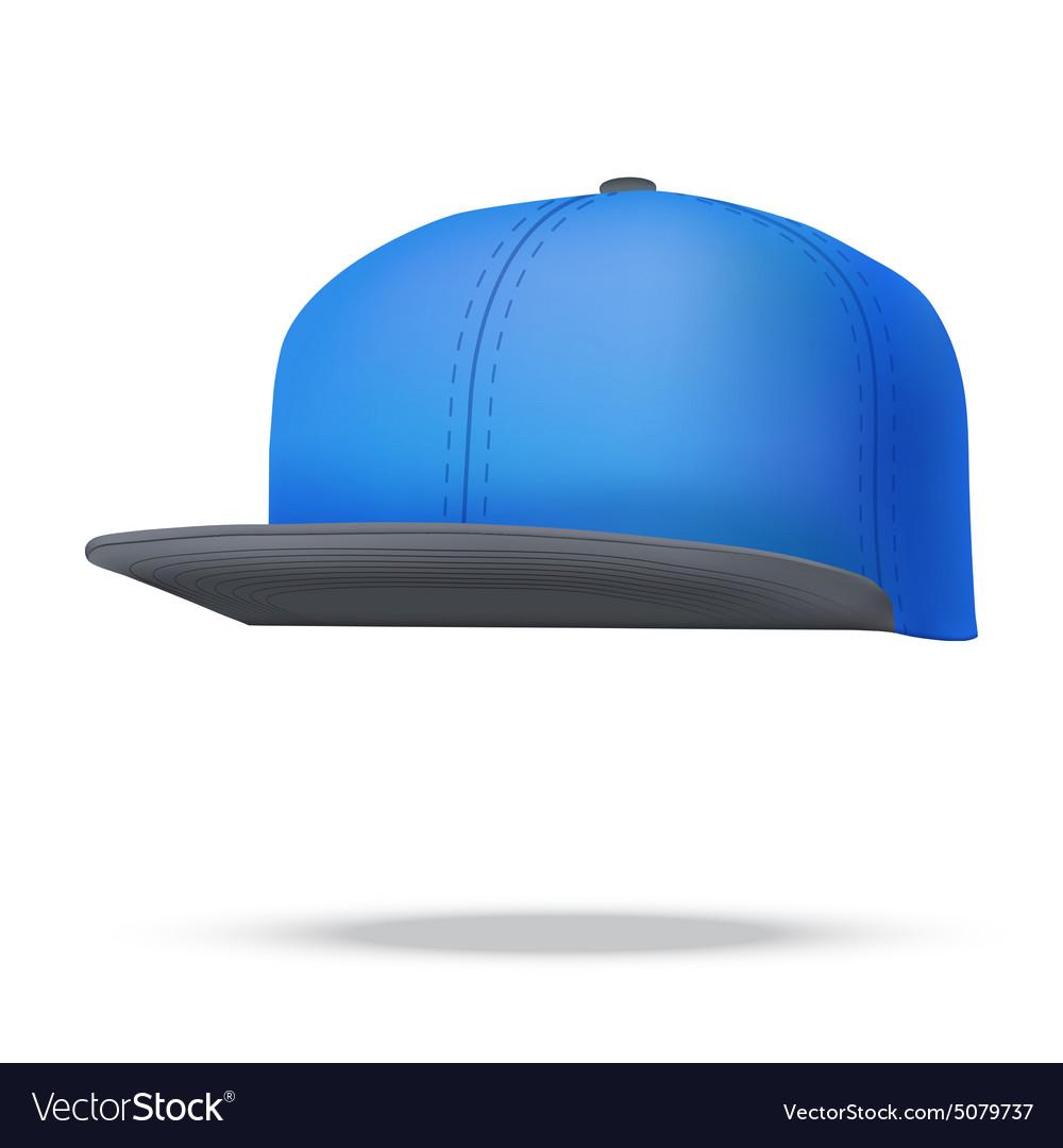 Layout of Male color rap cap vector image