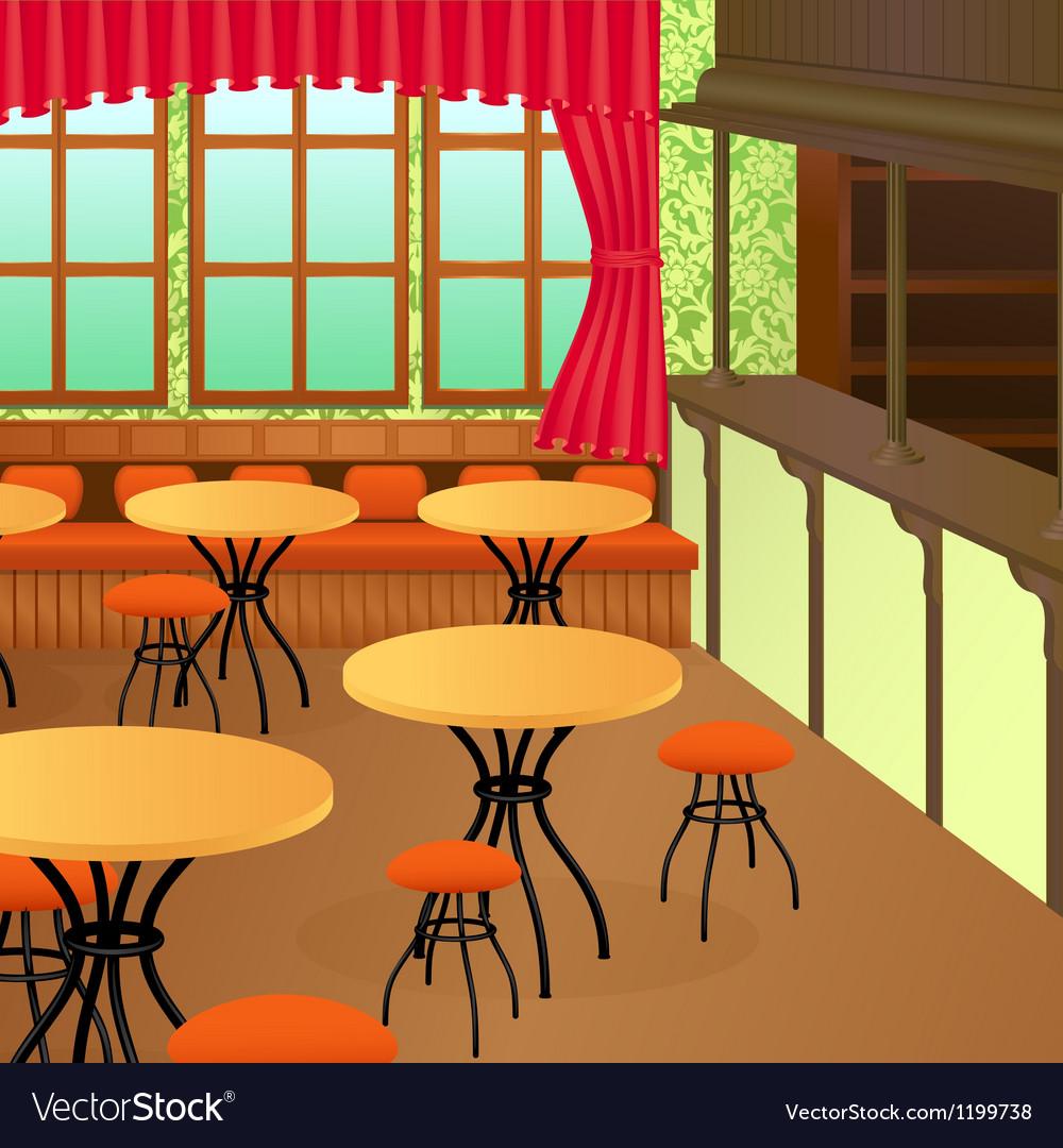 Bistro interior vector image
