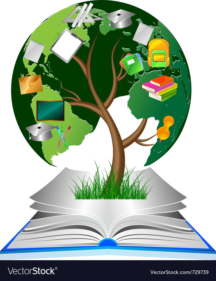 Education tree vector image