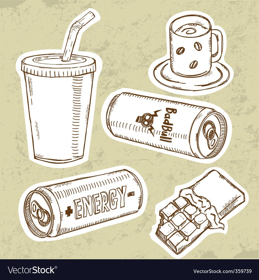 Energy drink V vector image