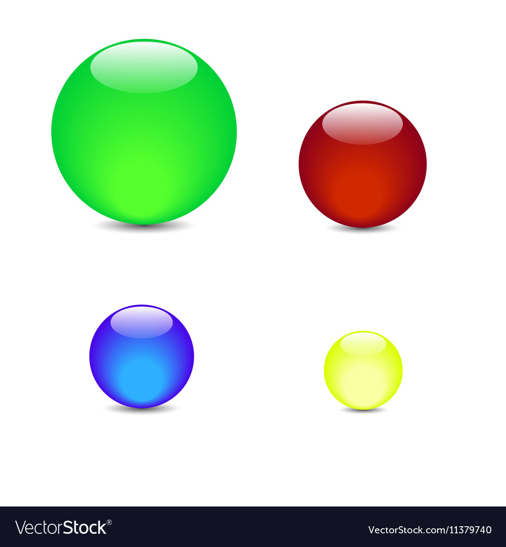 Green blue red yellow balls vector image