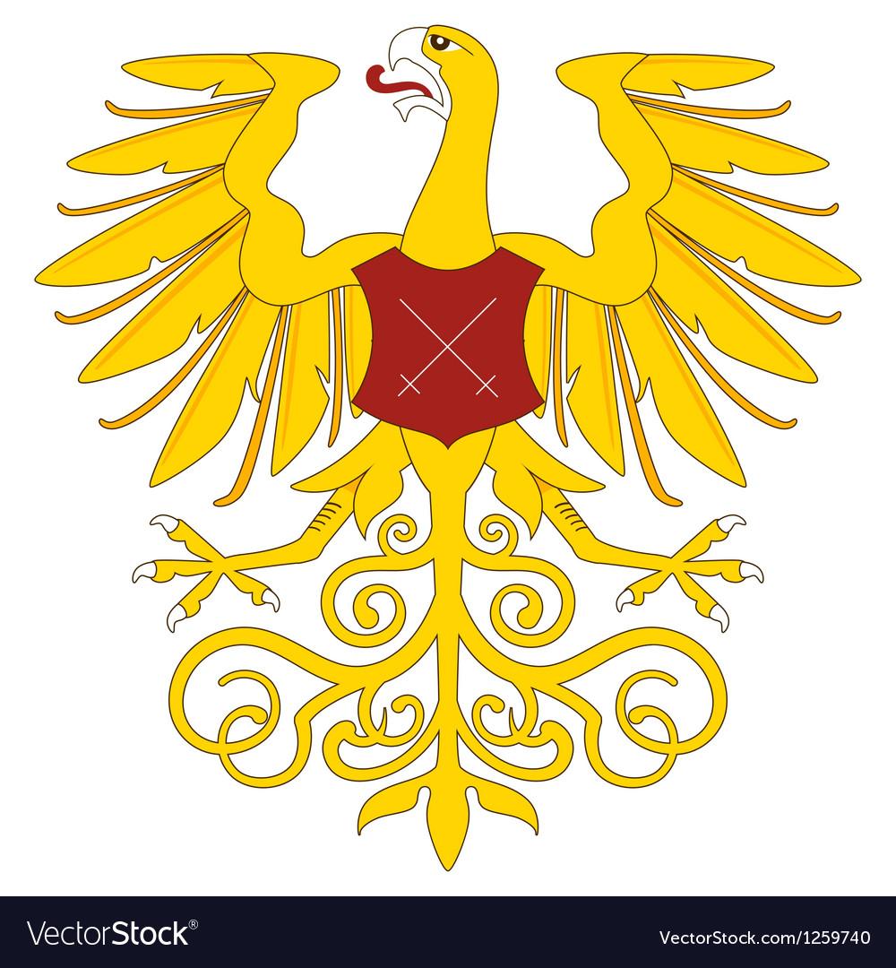 Heraldic eagle 19 vector image