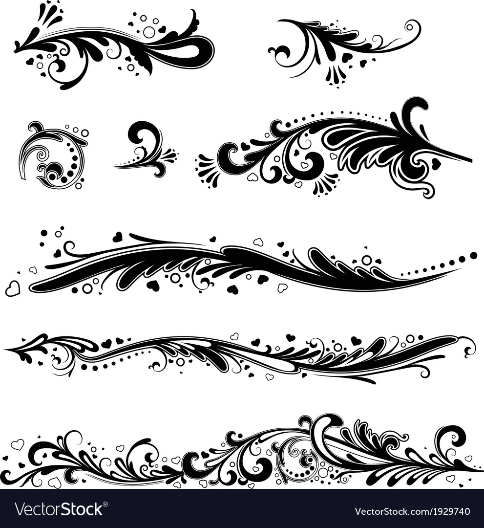 Set of patterns horizontal vector image