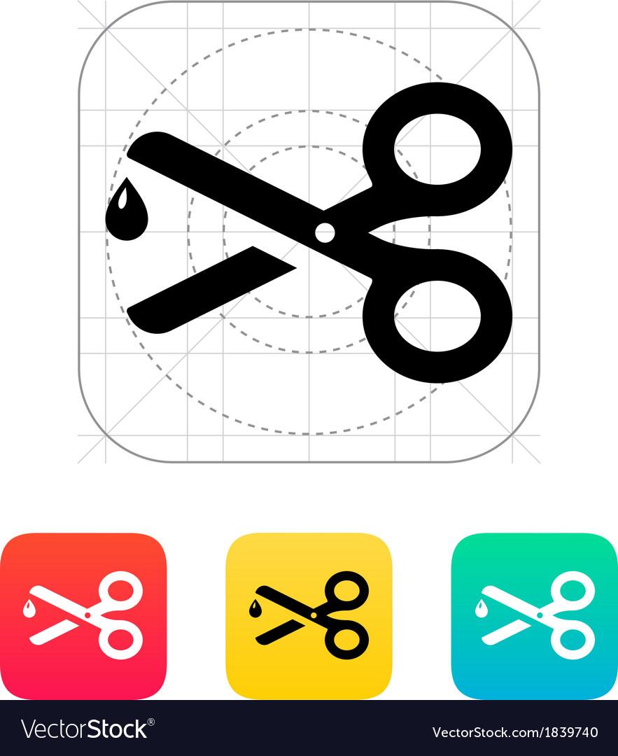 Sharp scissors icon vector image