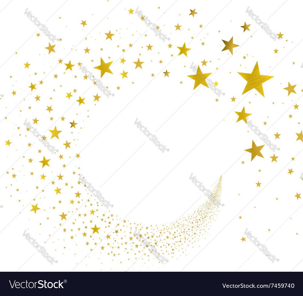 Stream Gold Stars vector image