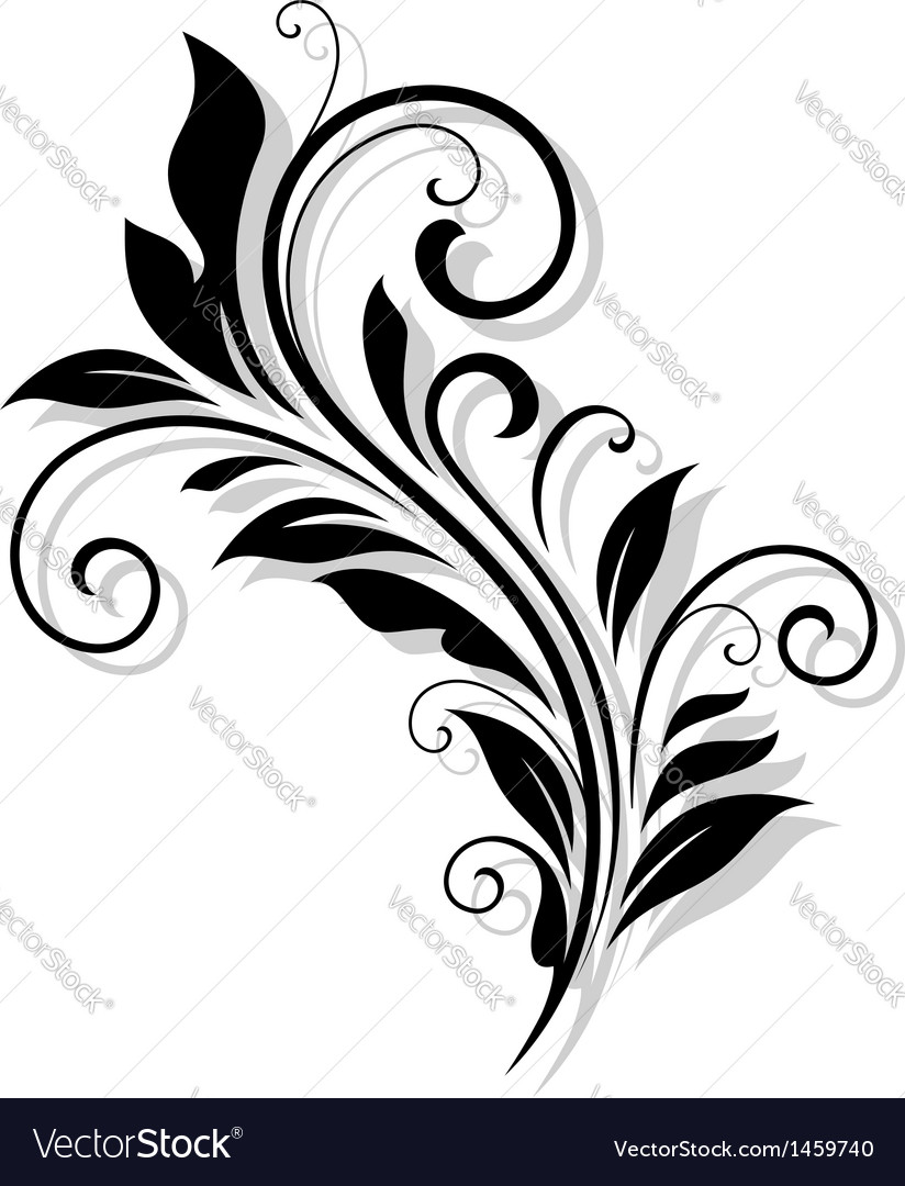 Vintage flourish design vector image