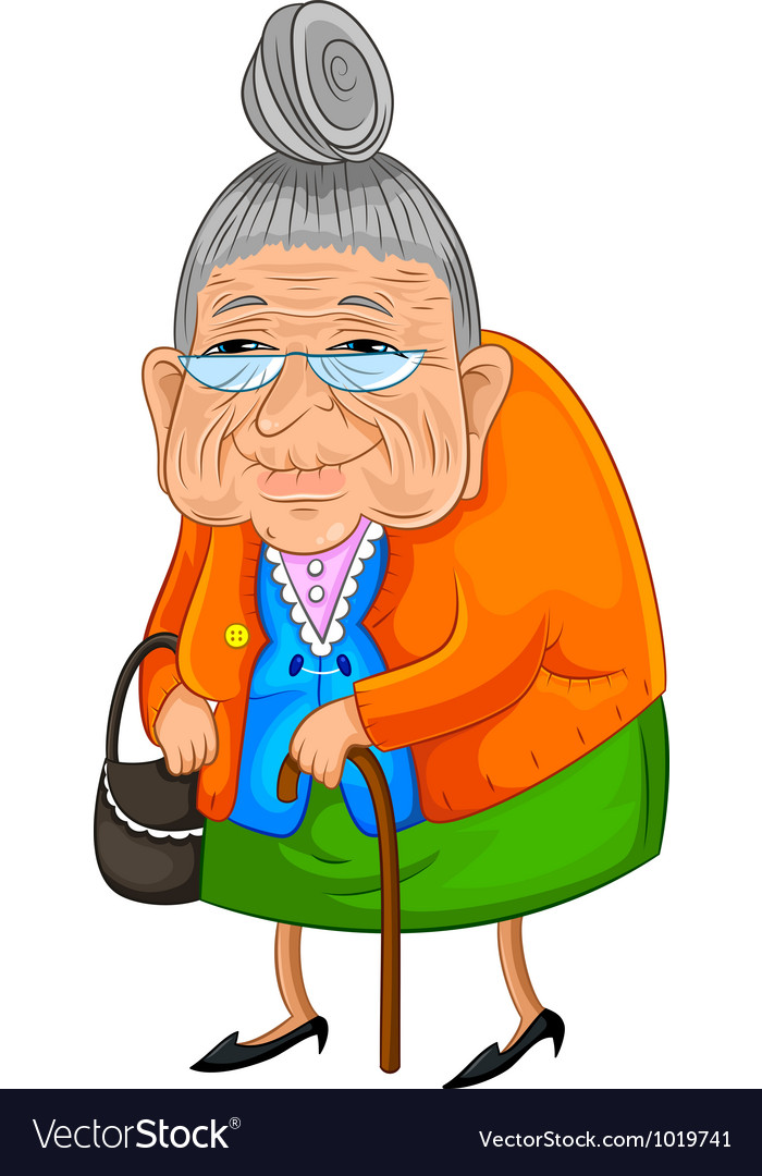 Old lady vector image