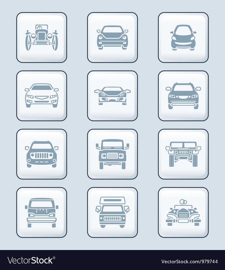 Cars set - TECH series vector image