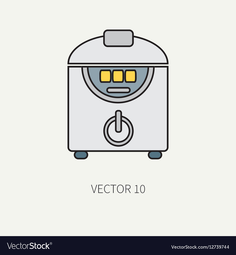 Line color kitchenware icons - double vector image