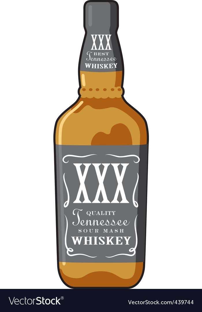 Whiskey bottle vector image