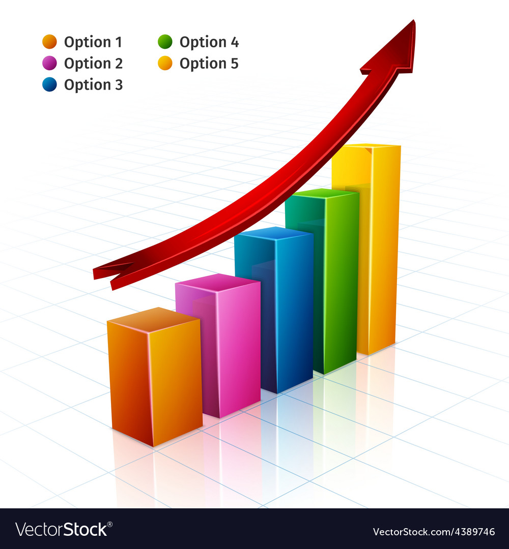 Business Graph 3d vector image