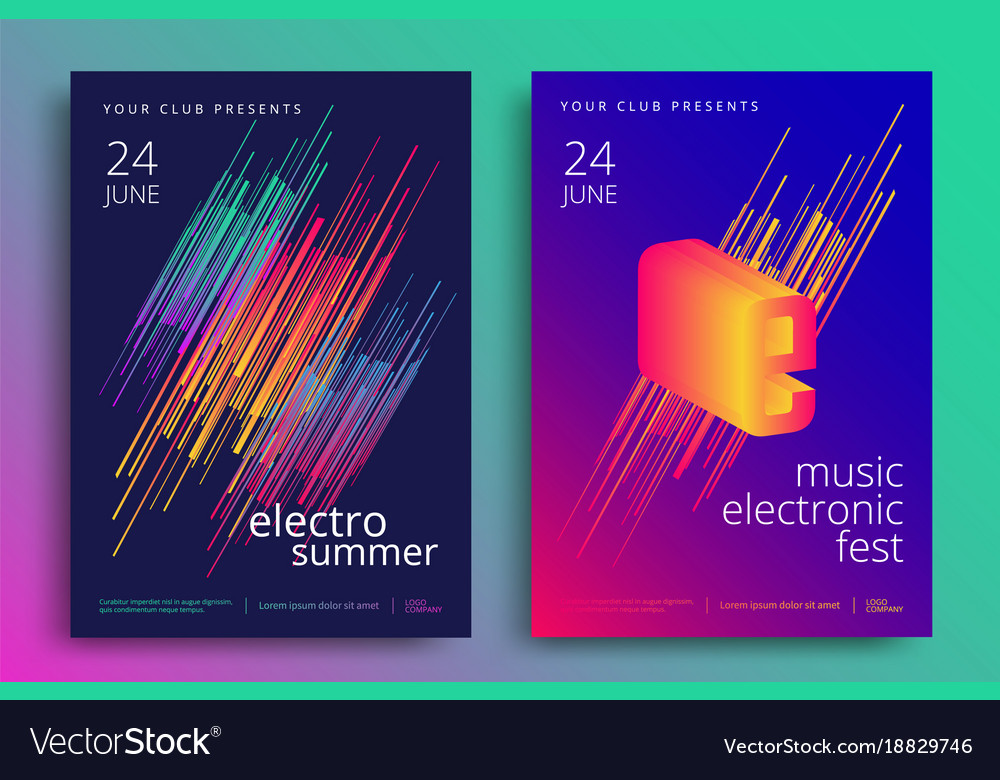 Electronic music fest vector image