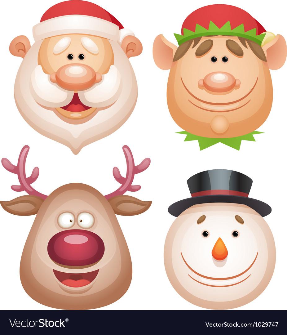 christmas characters royalty free vector image
