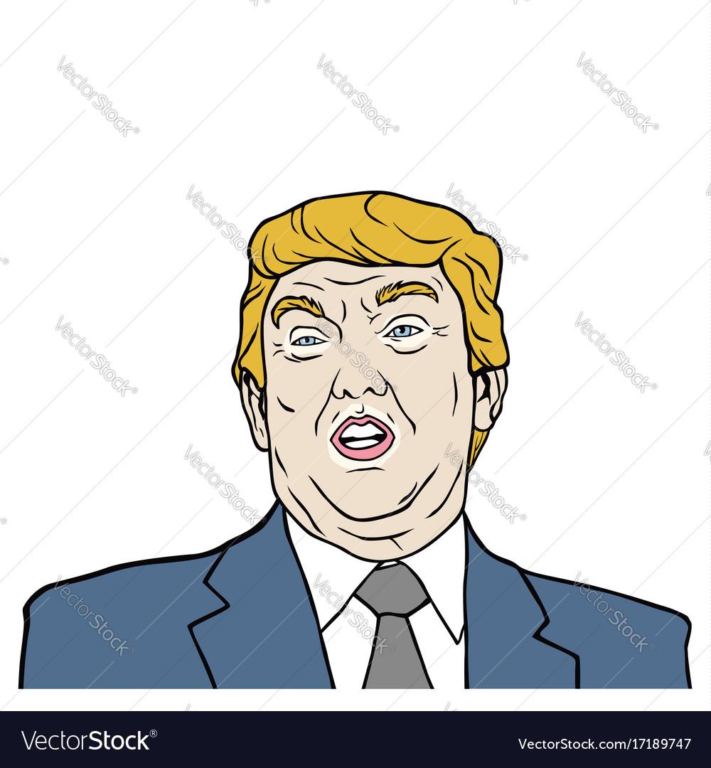 Donald trump 45th president of usa design vector image