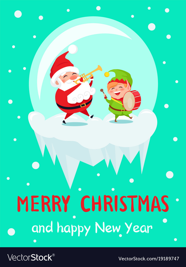 Merry christmas and happy new year greeting cards vector image merry christmas and happy new year greeting cards vector image kristyandbryce Image collections