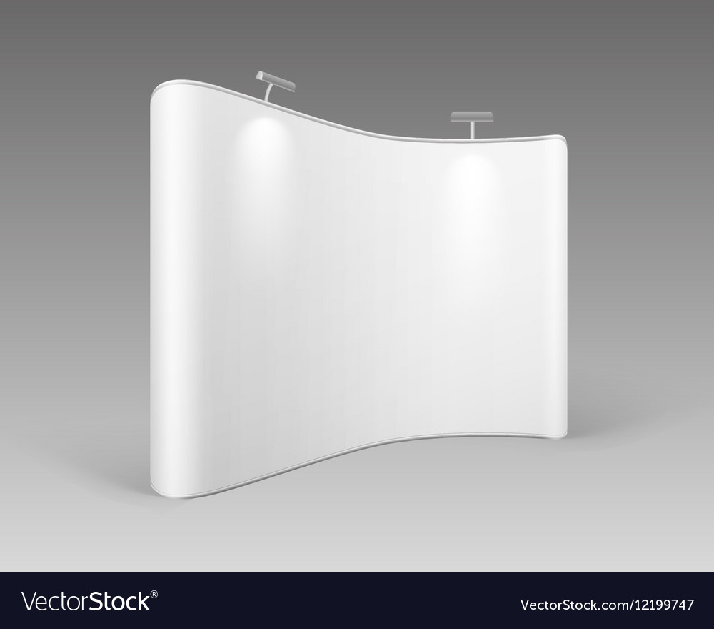 White Trade Exhibition for Presentation Backlights vector image