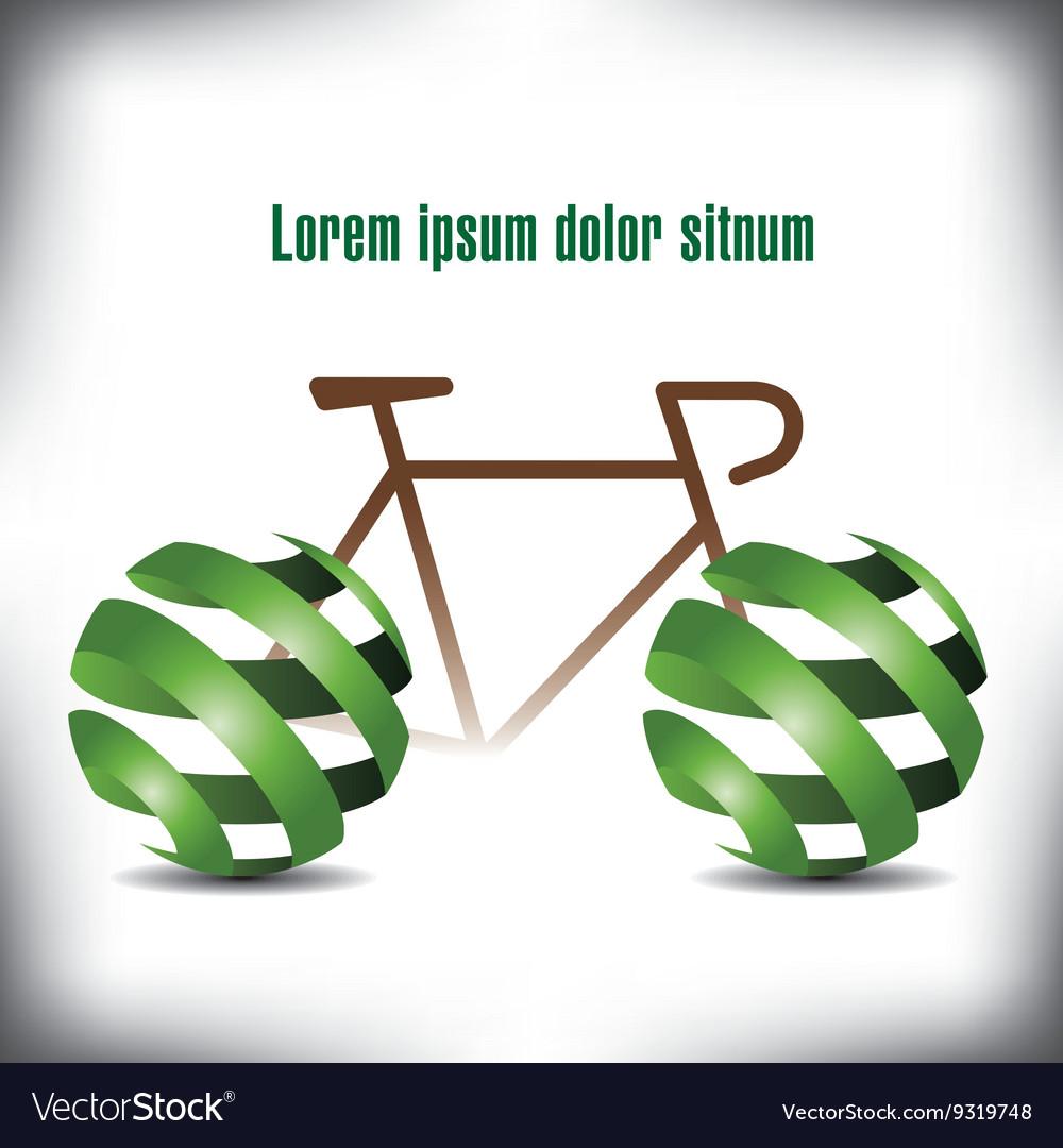Bicycle green Peel vector image