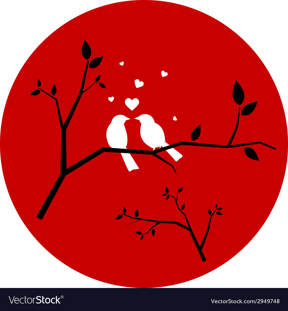 Couple of Love Birds vector image
