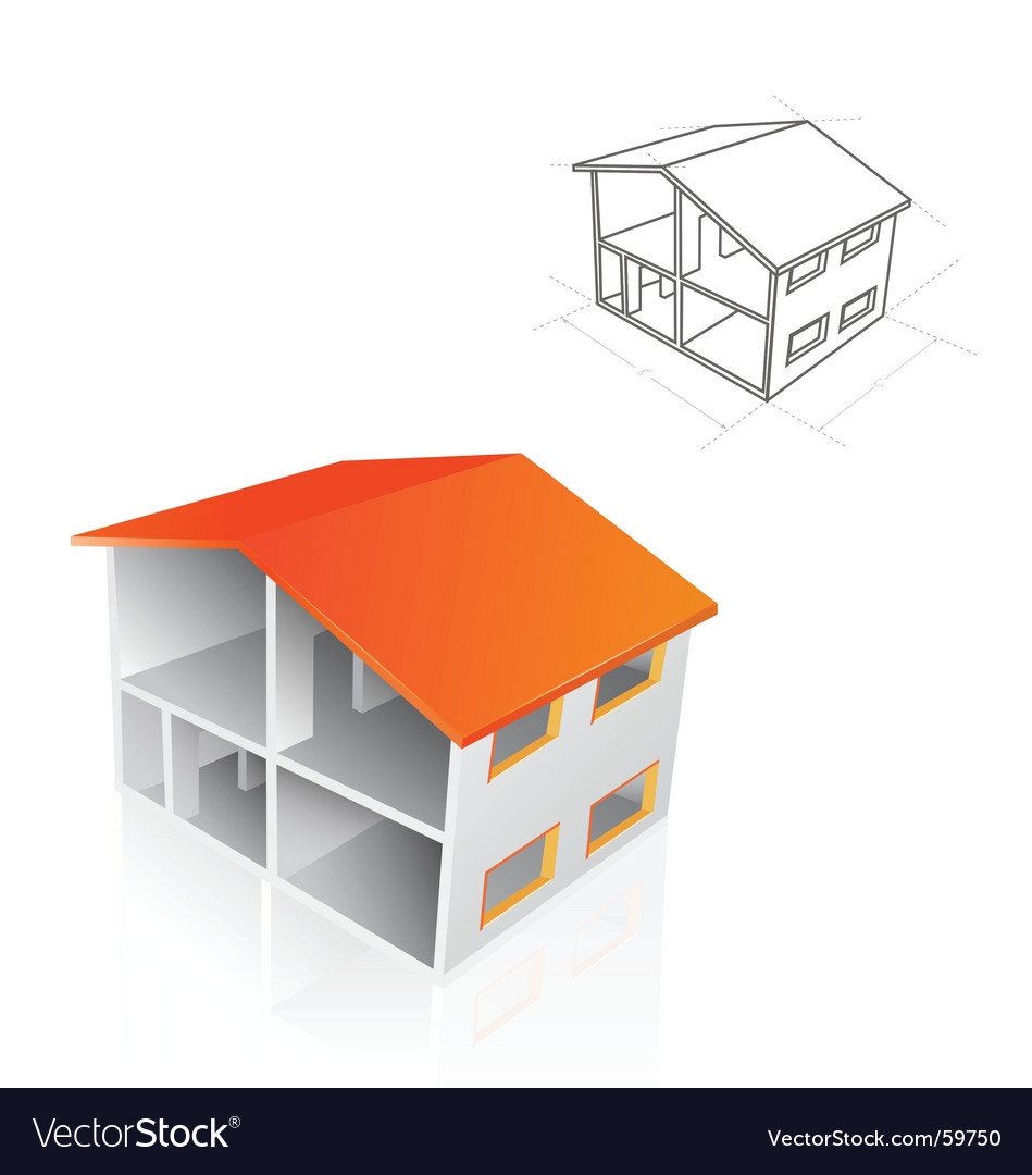 House blueprint vector image