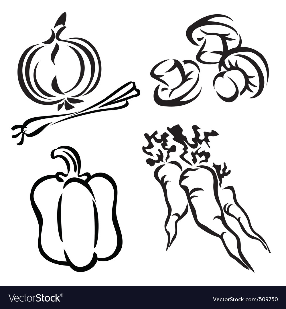 vegetables royalty free vector image vectorstock