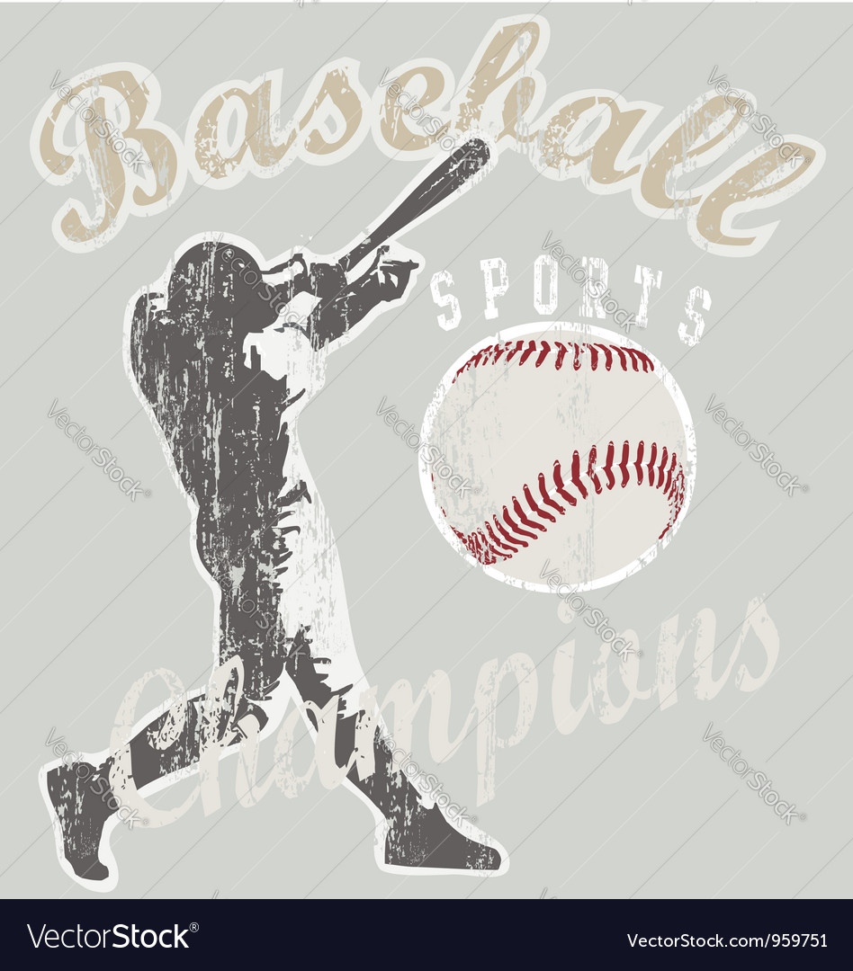 Baseball champions vector image