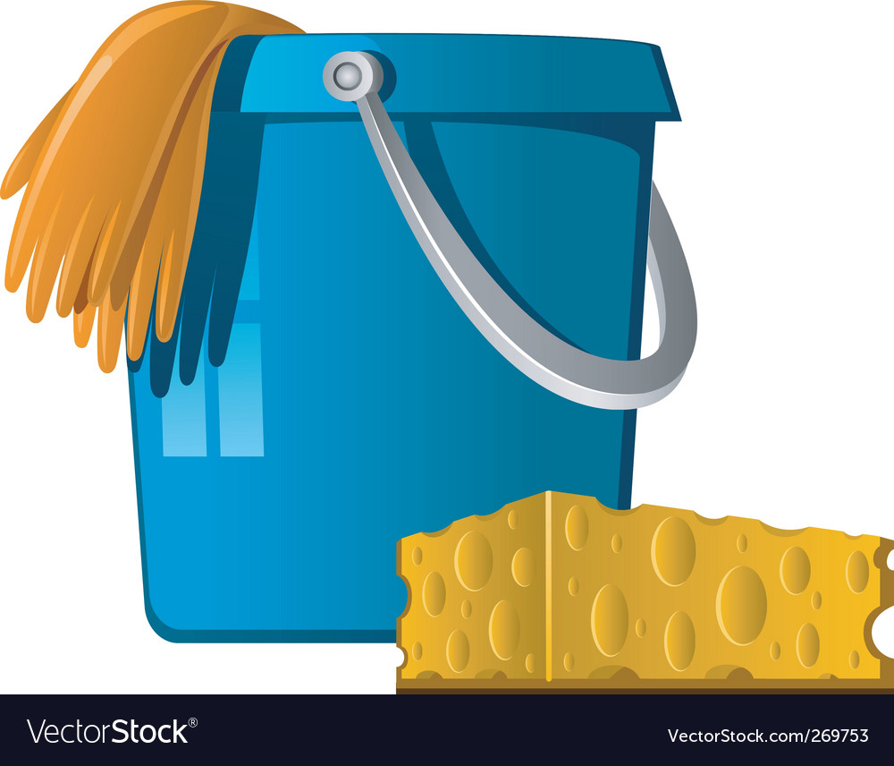 Cleaning bucket Vector Image