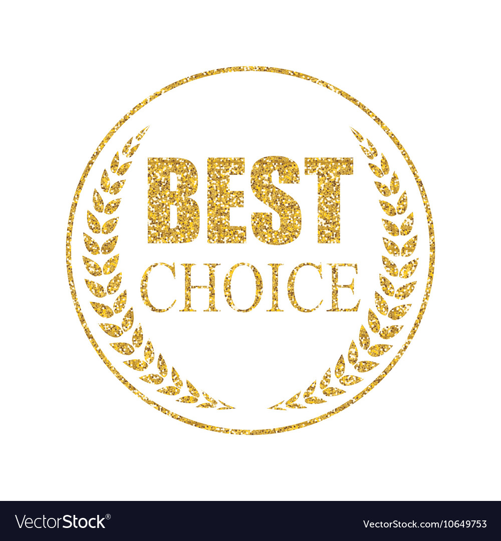 Best Choice Art Golden Medal Icon Sign vector image