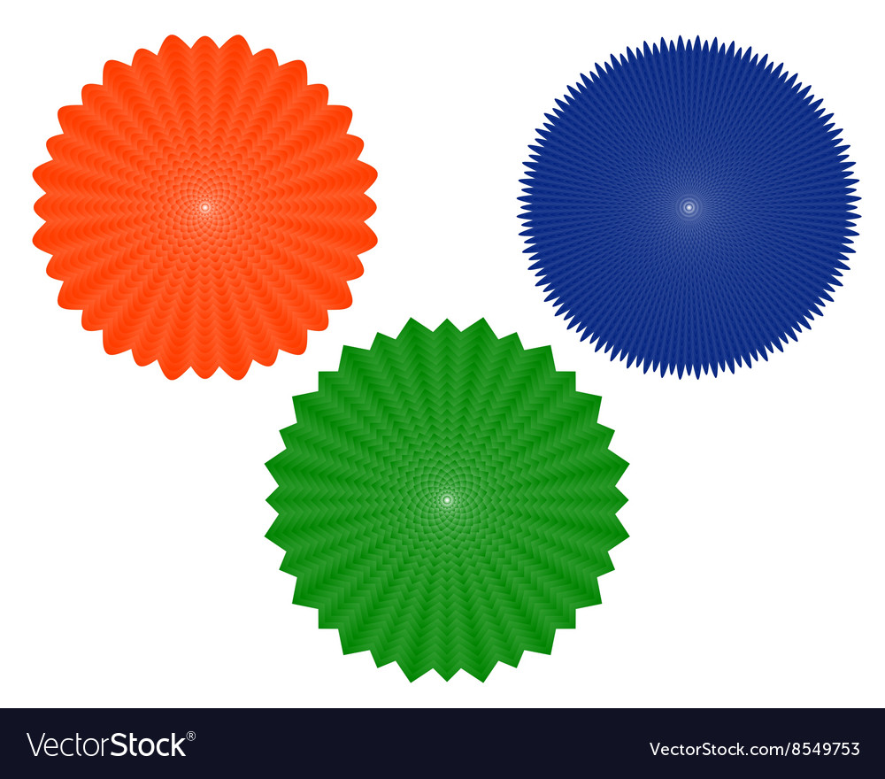 Three geometric figures of vector image
