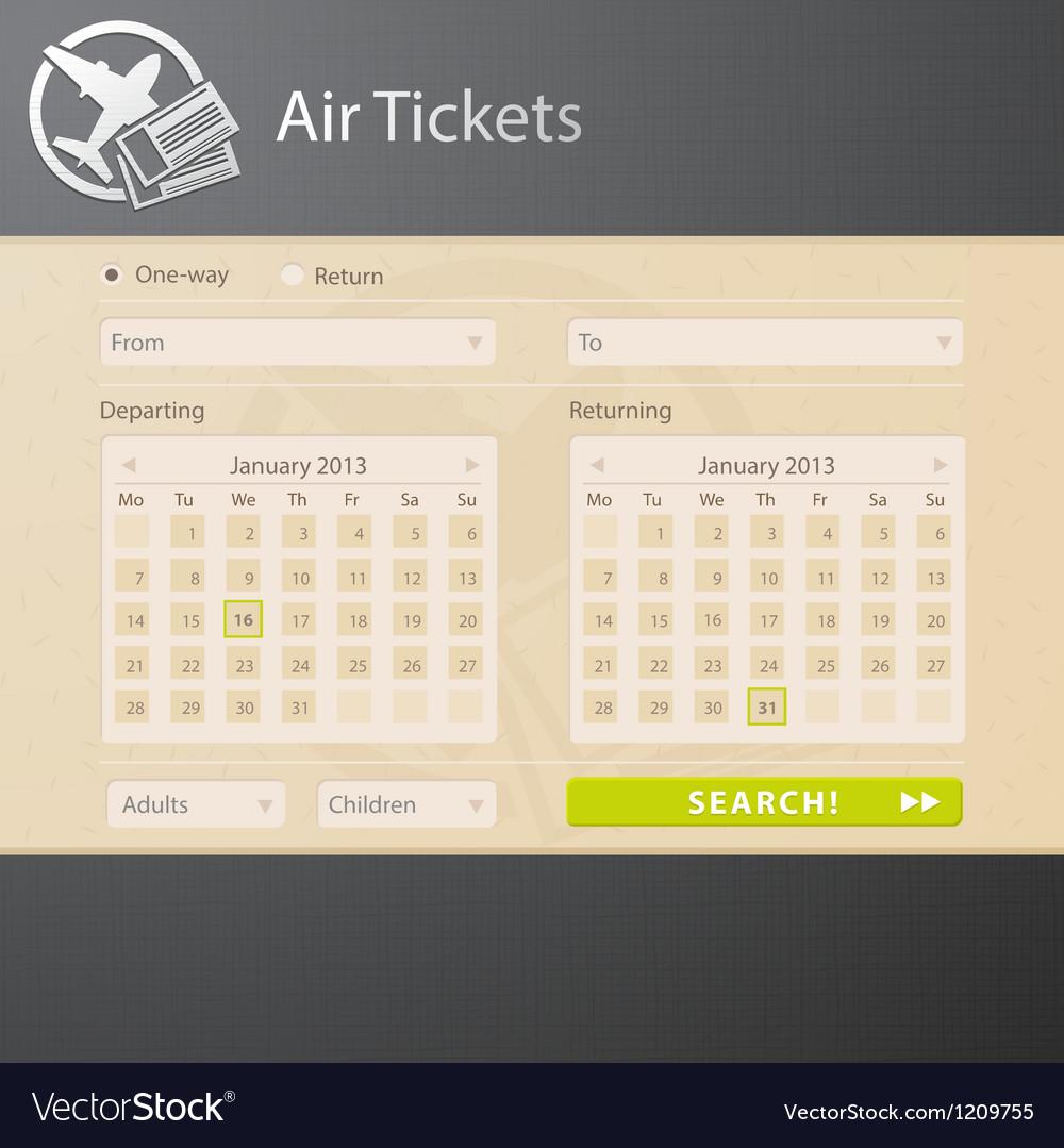 Avia interface vector image