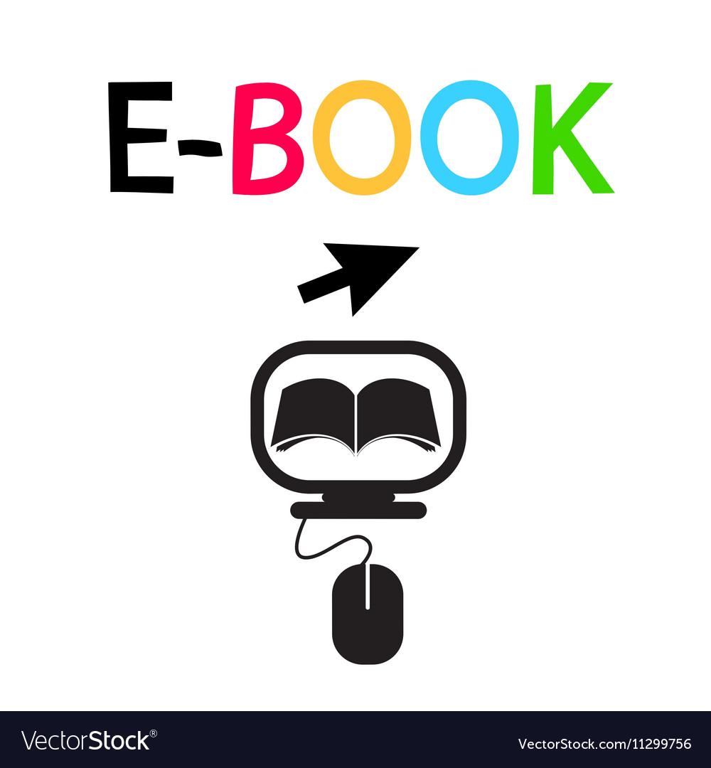 E-BOOK Icon Logo Design Symbol vector image