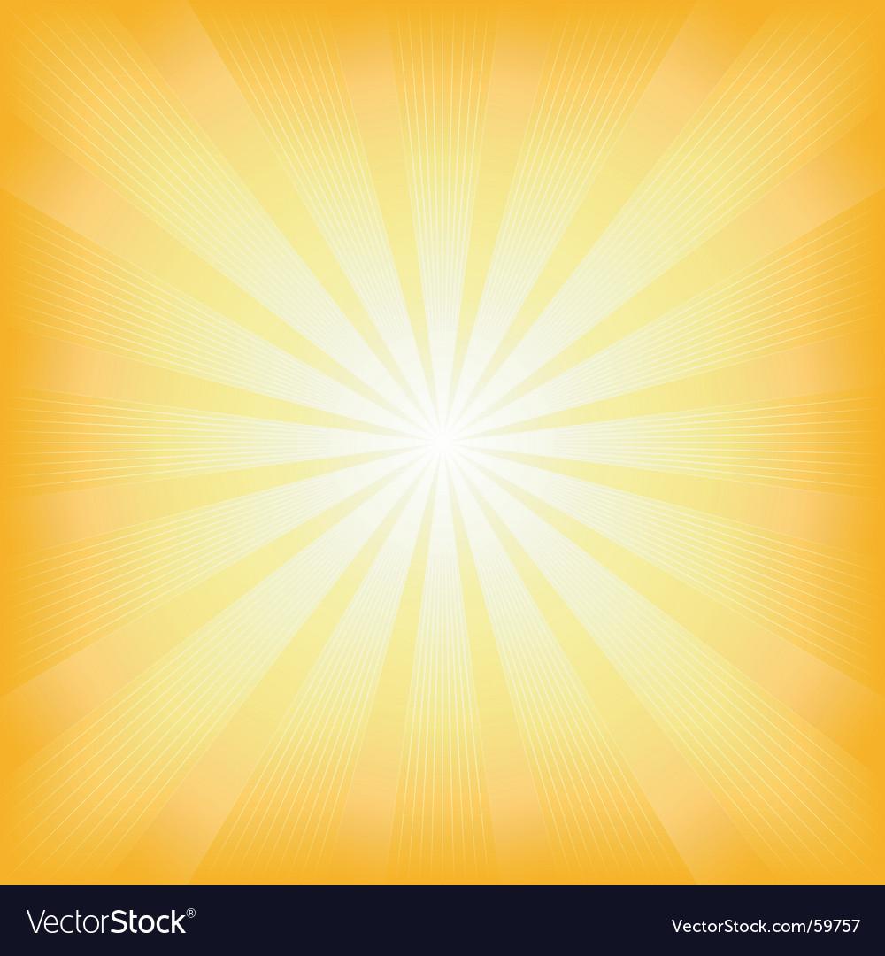 Square summer sun light burst vector image