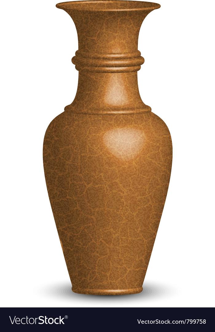 Old vase vector image