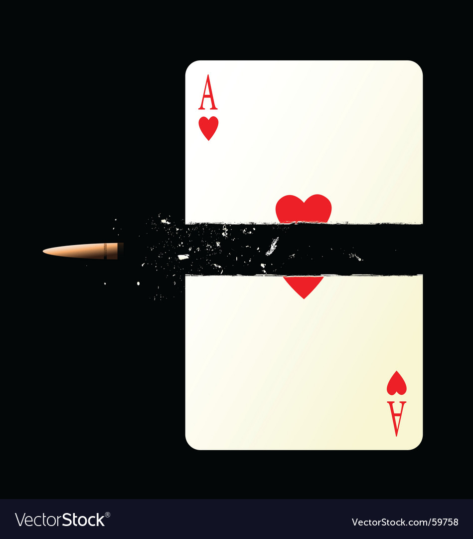 The overshot card vector image