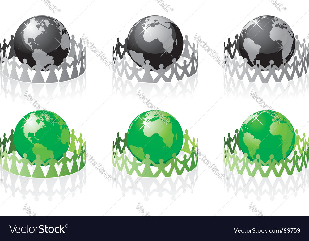 Earth people vector image
