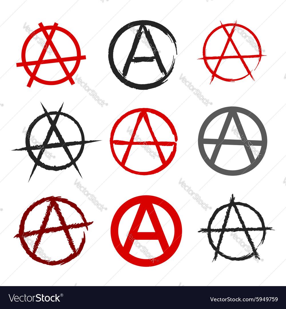 Anarchy symbol royalty free vector image vectorstock anarchy symbol vector image buycottarizona
