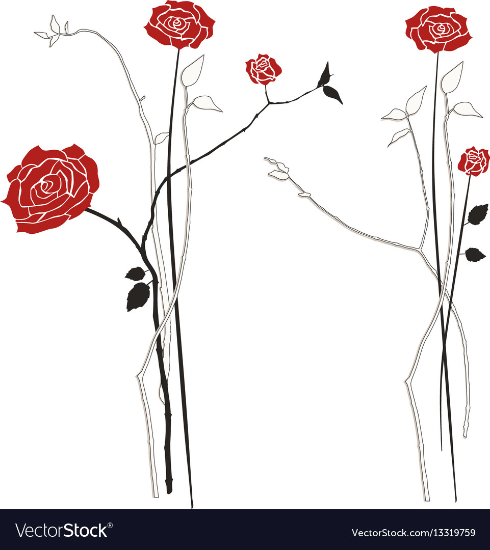 Bouquet of roses designers elements vector image