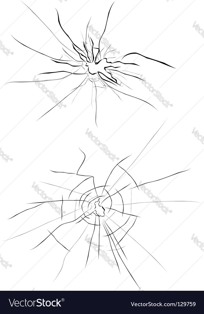 Broken glass vector image