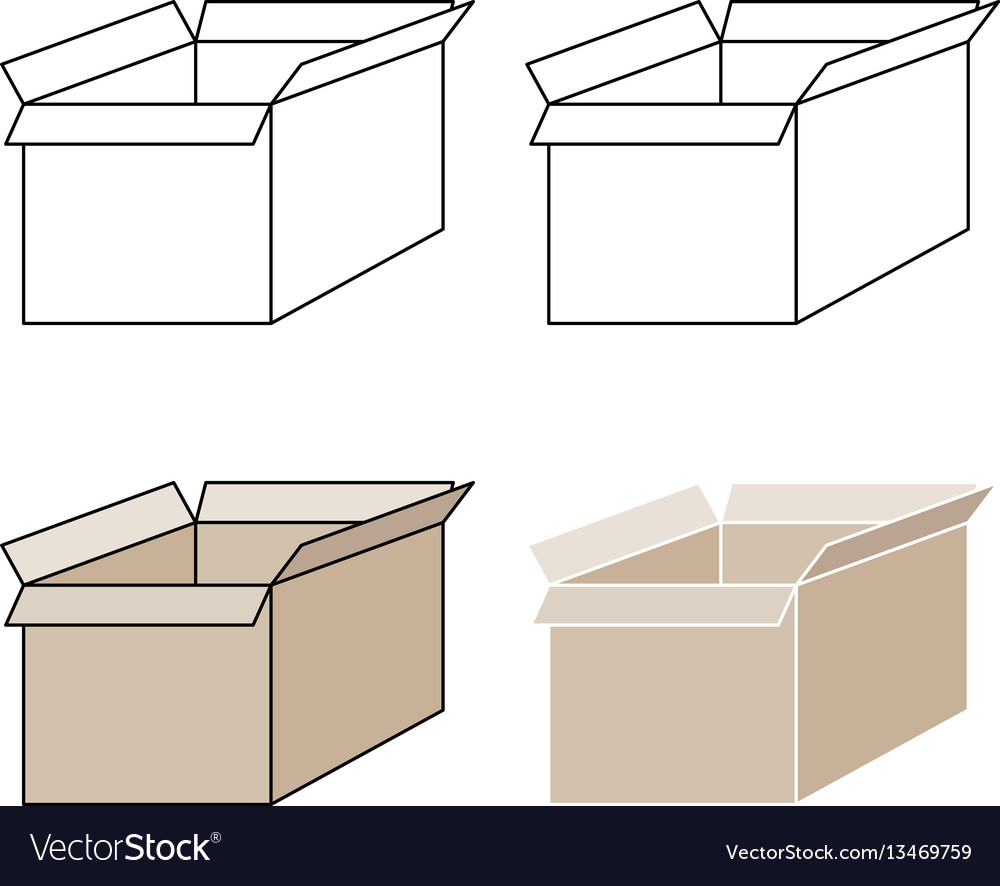 Light brown present box with pick out paths vector image