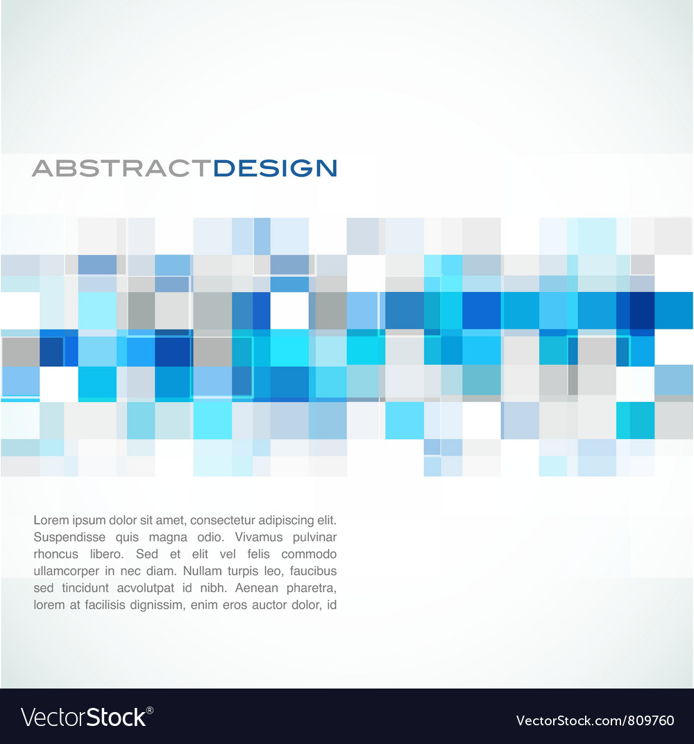 Blue abstract banner vector image